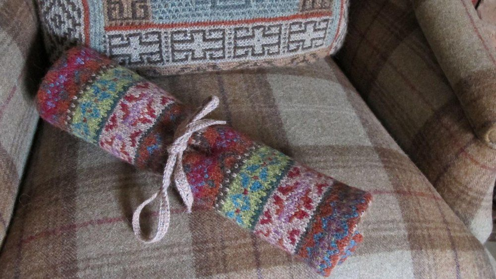 This fairisle knitting wrap was the project from my 'steeking ...