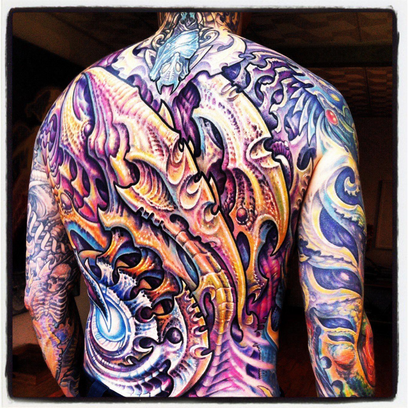 Guy Aitchison Hyperspace Studios. Tattoo. Back. Bio