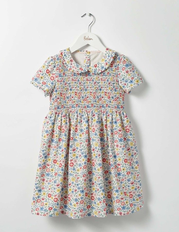 add58d3fb748 Pretty Smock Dress - lovely traditional style Mini Boden summer dress - in  a style currently being made popular by Princess Charlotte.