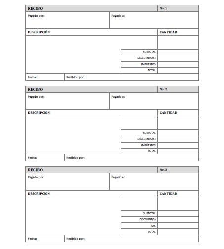Recibo de pago para imprimir gratis paraimprimirgratis Plantilla nomina