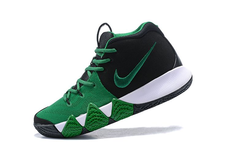 bf7f796a5095 2018 Nike Kyrie 4 Black Green-White For Sale