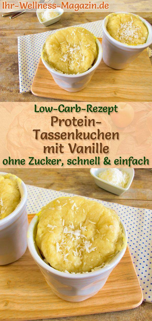Low Carb Protein-Tassenkuchen mit Vanille - Mug-Cake-Rezept ohne Zucker