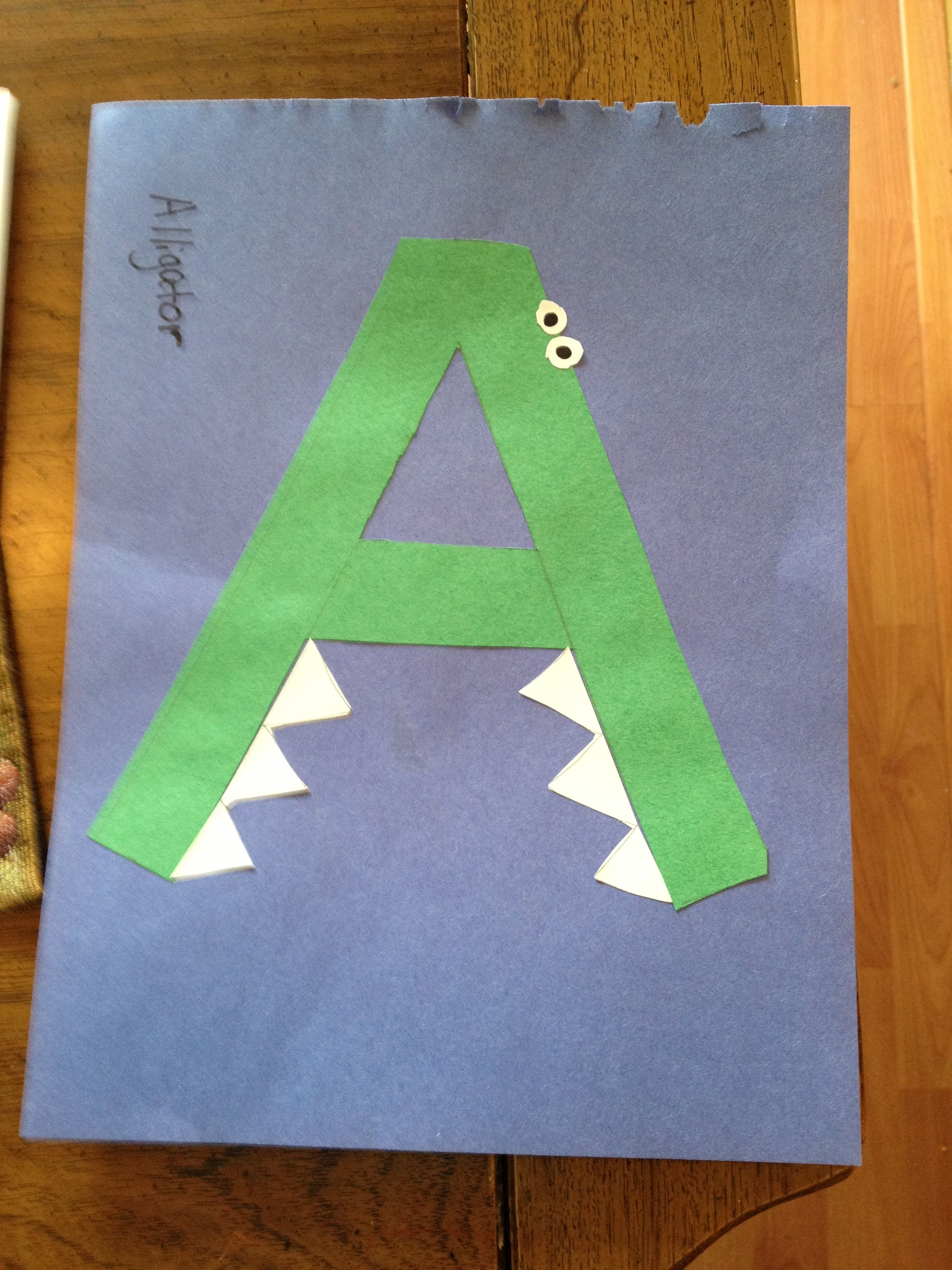 A Is For Alligator With Images