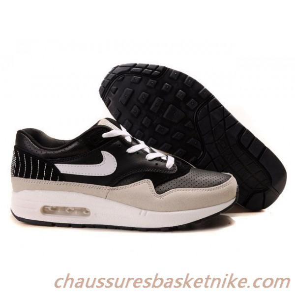 Vendre Nike Air Max 87 Blanc Noir Gris Chaussures Couple