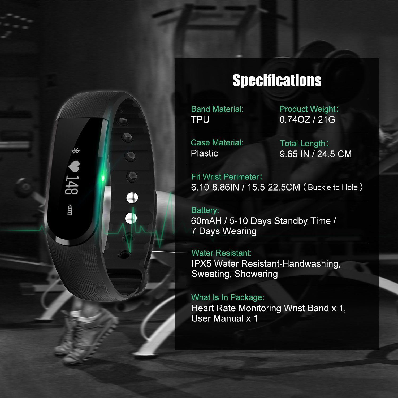 fitness tracker watch fitness activity tracker wireless heart rate band smart watch hr wristband pedometer steps distance sleep calorie touch screen call