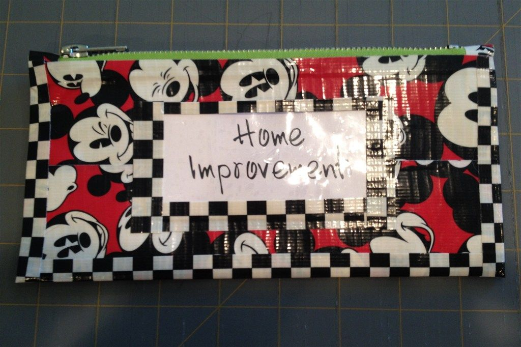 Duck Tape Pouch with Zipper