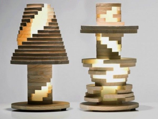 Interesting Table Lamps unique table lamp that looks like rock a stack toy babele lamp