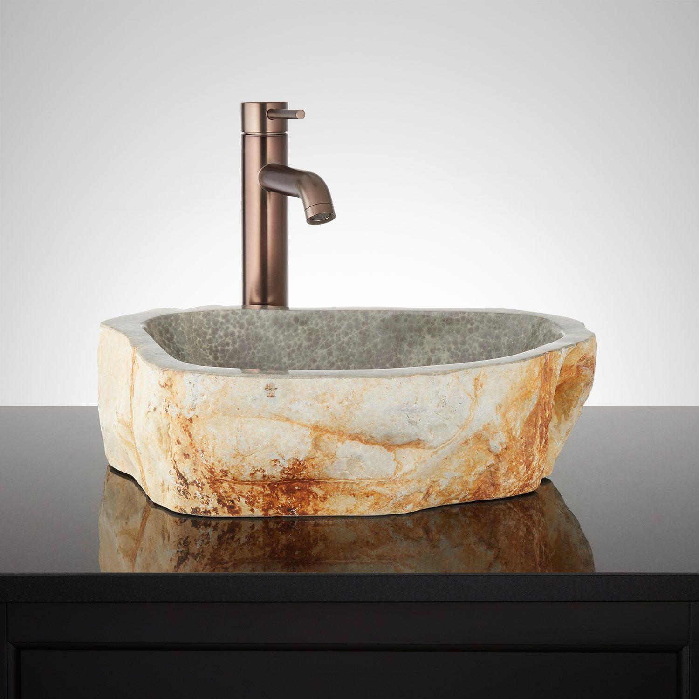Orrin Green Marble Vessel Sink Sink Lavatory Sinks Bathroom Sink