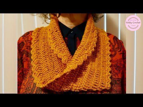 Bufanda infinita básica a crochet con la técnica Moebius, paso a ...