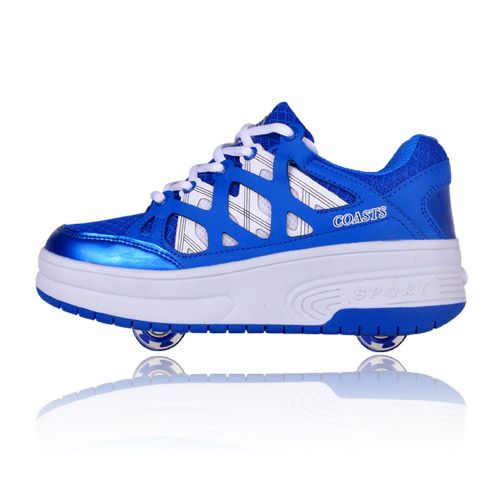 New Arrival Two Wheel Heelys Kids Roller Shoes Invisible Button Automatic  Heelys Skate Athletic Shoes Toddler