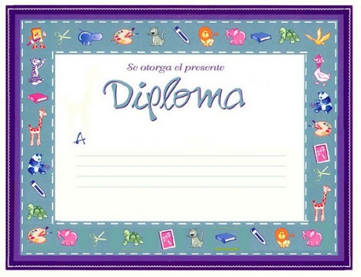 16 Jpg 1171 900 Diplomas Para Ninos Diplomas Para Imprimir Diplomas Infantiles Formato de diplomas para llenar