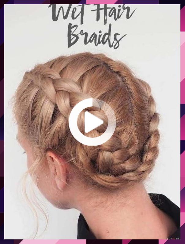 迅速かつ簡単にヘアスタイルのための学校 髪は最高のヘアスタイルのためのウェットティーンを三つ編み 三つ編み Hairstyles Quick School Teens 髪型女性 Pinterest
