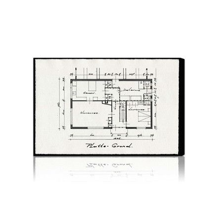 "Oliver Gal Dessins Architecturaux II Graphic Art on Wrapped Canvas Size: 45"" x 30"""
