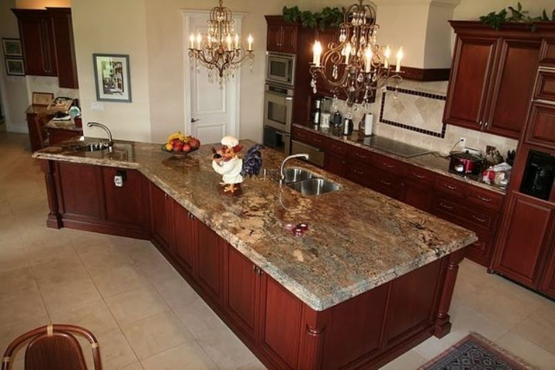 Crema Bordeaux Granite Countertop Design Ideas. Inspiration For Kitchen  Remodeling, Design, Cabinets,