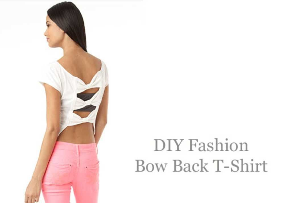 DIY Fashion: Bow Back T-Shirt.