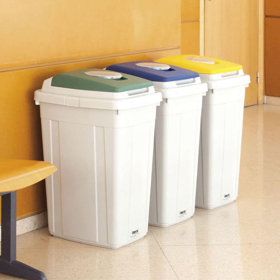 Cubo de basura de reciclaje para lugares p blicos eco - Cubo de reciclaje ...