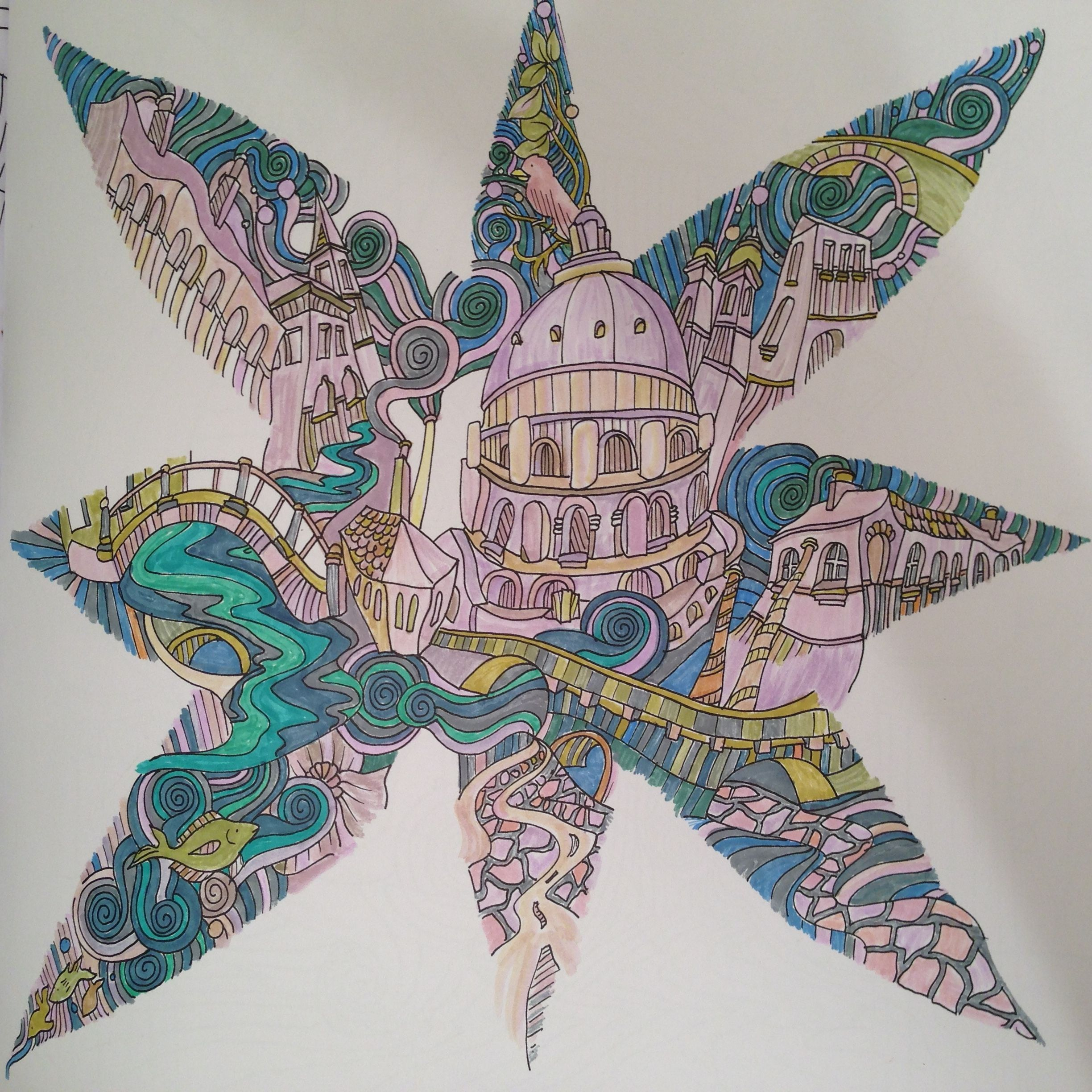 Th the magical city colouring in book - Venice From The Magical City Colouring Book By Lizzie Mary Cullen Coloured By Janet