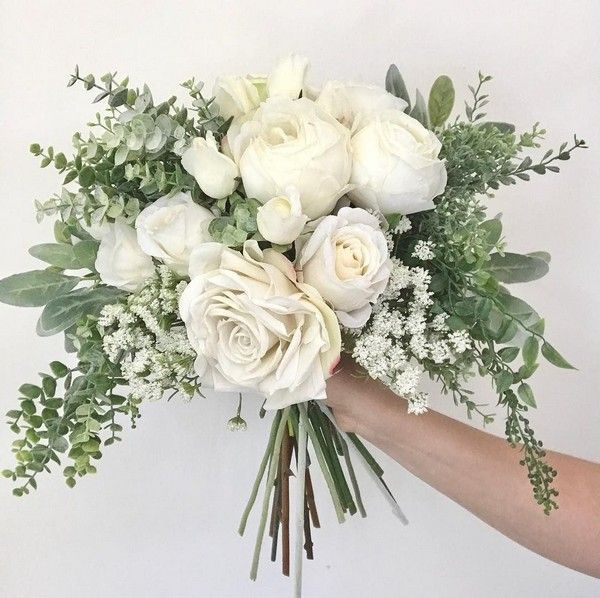 35 Simple White and Greenery Wedding Bouquets | Colors for Wedding - Part 2