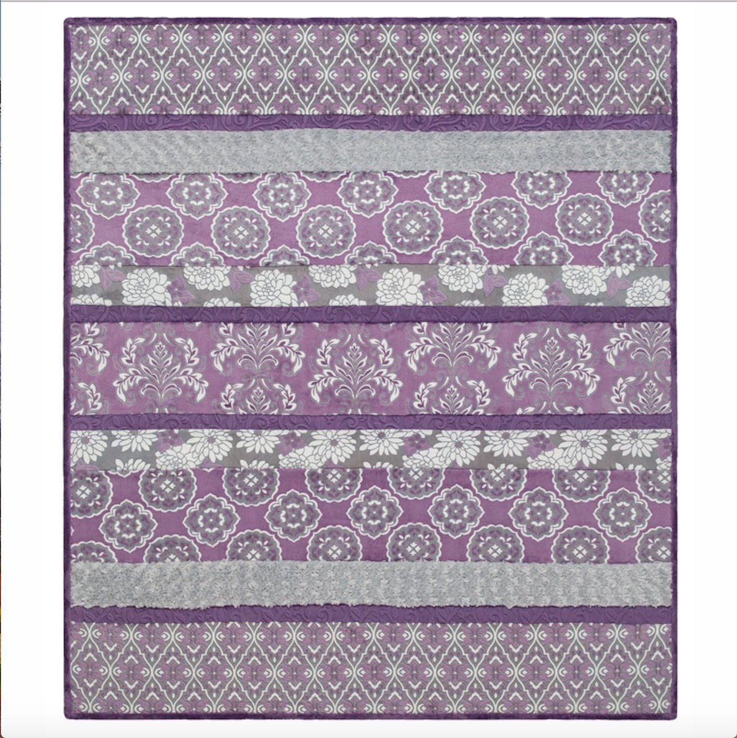 Shannon Fabrics Crazy 8 Violeta Cuddle Kit With Backing Cuddle Quilt Kit Cuddle Fabric Cuddle Blanket Valentine S Day Quilt Kit Minky Quilt Fabric Kit