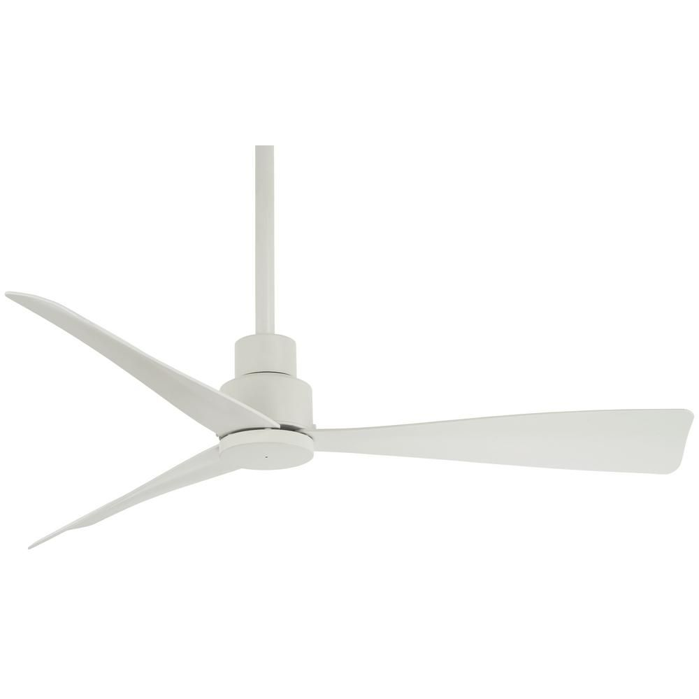 Minka Aire Simple 44 In Indoor Outdoor Flat White Ceiling Fan