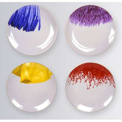 Maryse Boxer flower plate set - Photo  sc 1 st  Pinterest & Maryse Boxer flower plate set - Photo | Buffet Beautification ...