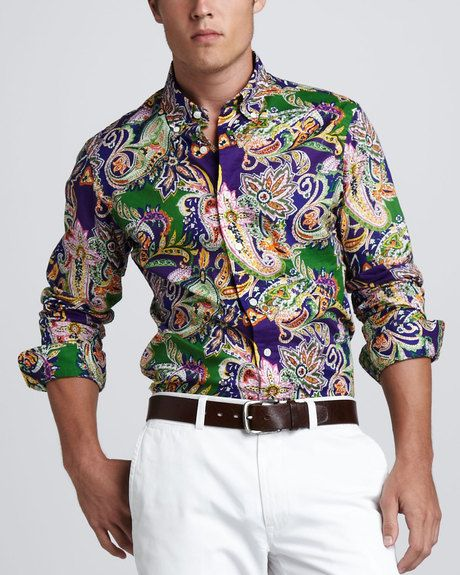 25d6cc6c968f Polo Ralph Lauren Multicolor Customfit Paisley Shirt
