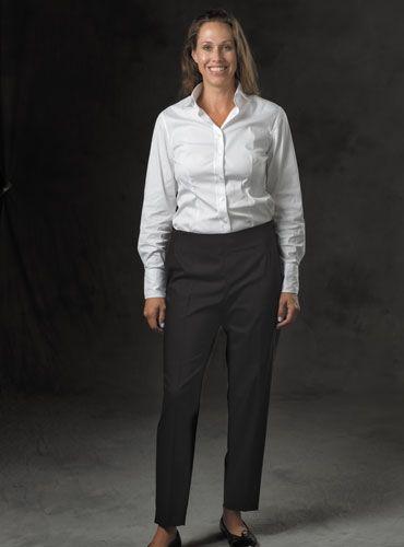 Ladies Gabardine Trousers in Black