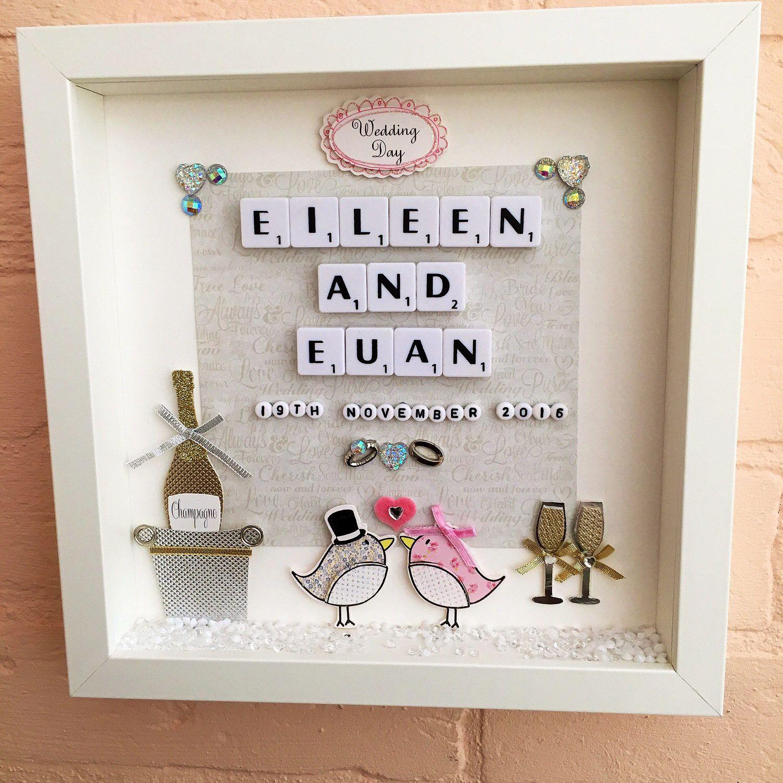 Personalised Wedding Gift Frame, Wedding Memory Frame, Wedding ...