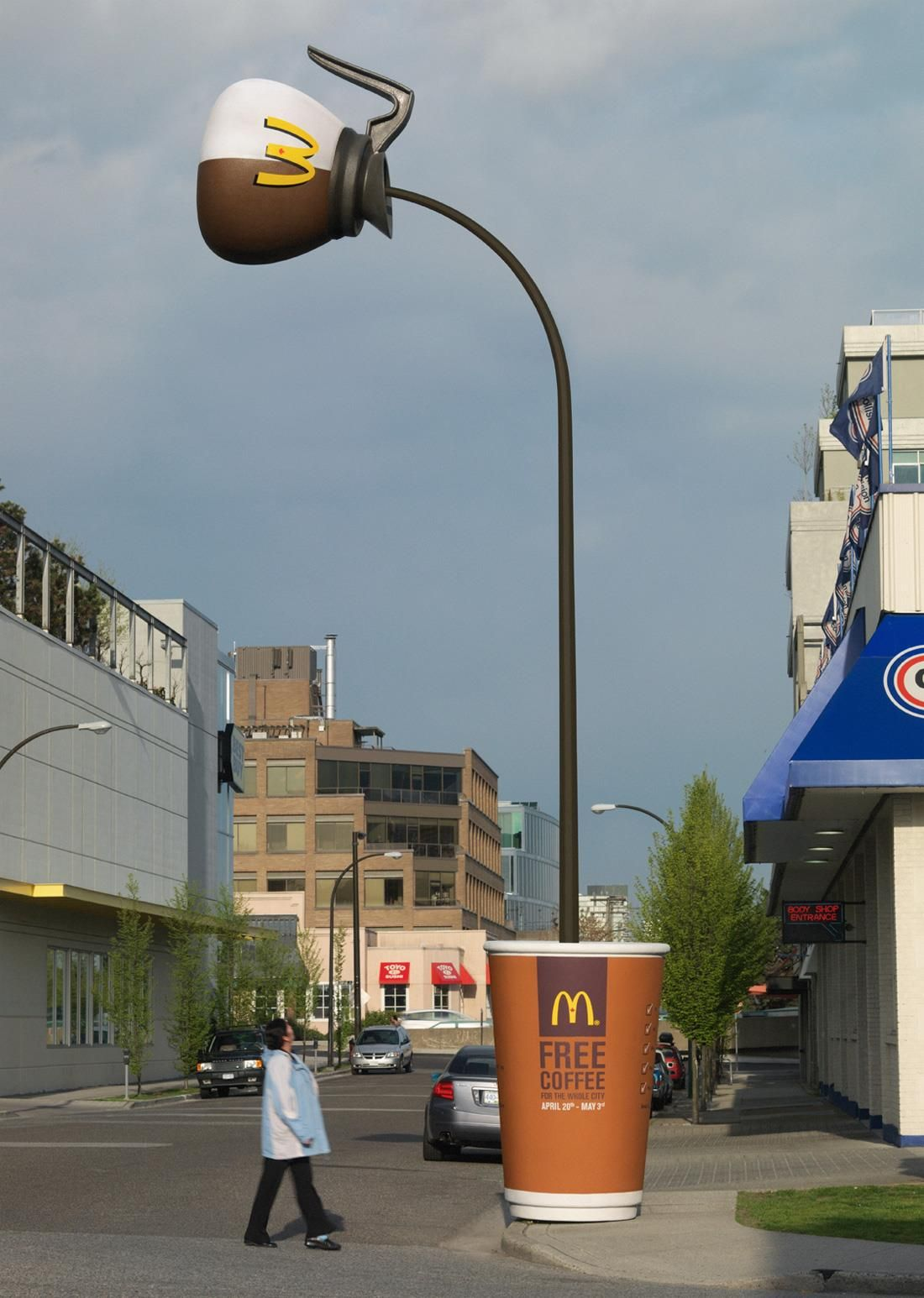 Not a fan of Micky Ds, but this is one of the best outdoor ads ever ...
