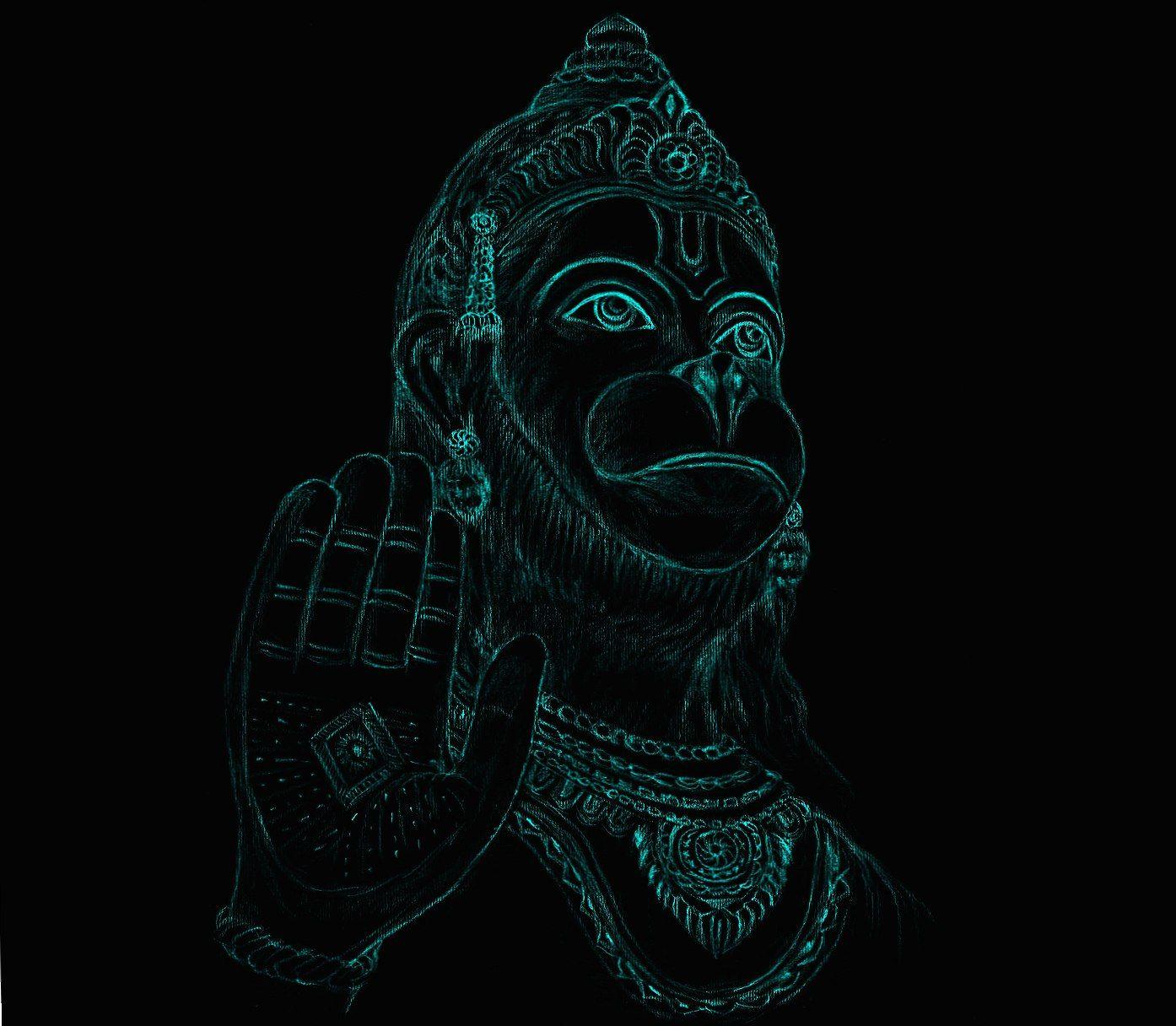 Neon Hanuman Wallpapers Hd Hanuman Wallpaper Hanuman Animated Cartoons