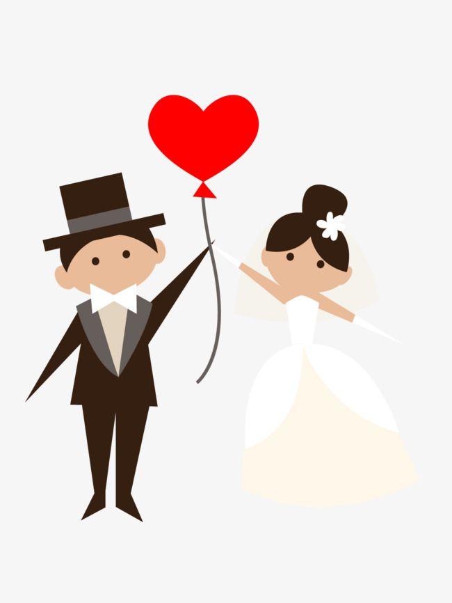 Cartoon Bride And Groom Balloons Png And Vector Bride And Groom Cartoon Bride Cartoon Wedding Couple Cartoon
