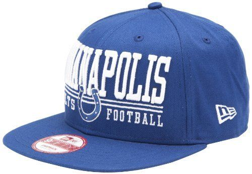 NFL Unisex Adult Indianapolis Colts Lateral Snapback Cap (Blue c9e2d9293