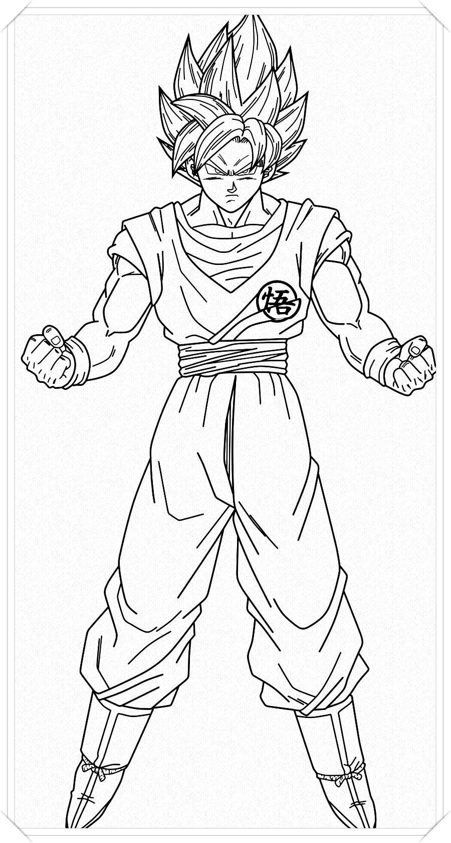 Los Mas Lindos Dibujos De Goku Para Colorear Y Pintar A Todo Color