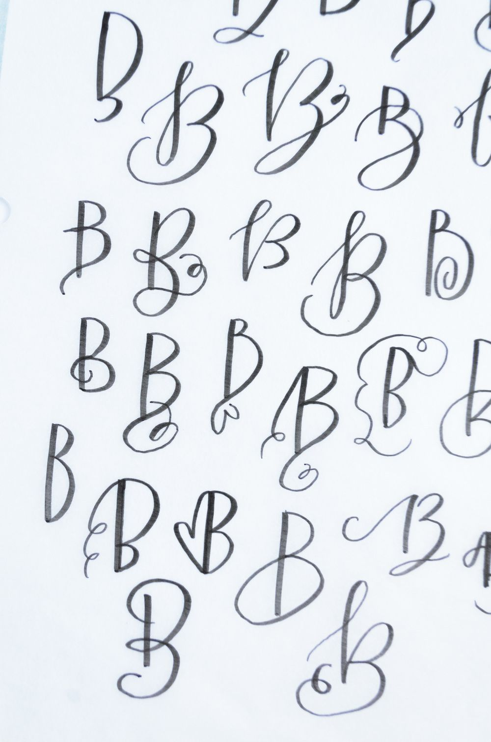 Workbooks letter b and d worksheets : 50 Ways to Draw A 'B' - Brush Lettering Practice + Creativity ...