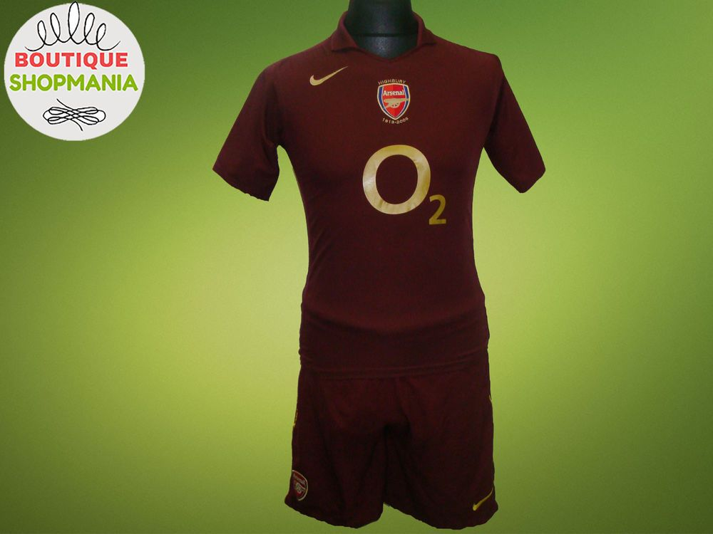 ARSENAL HOME HIGHBURY 2005-2006 (Boys L+XL) Football Shirt+Shorts Jersey  Camisa  Nike  ARSENAL c6d88f1508e67