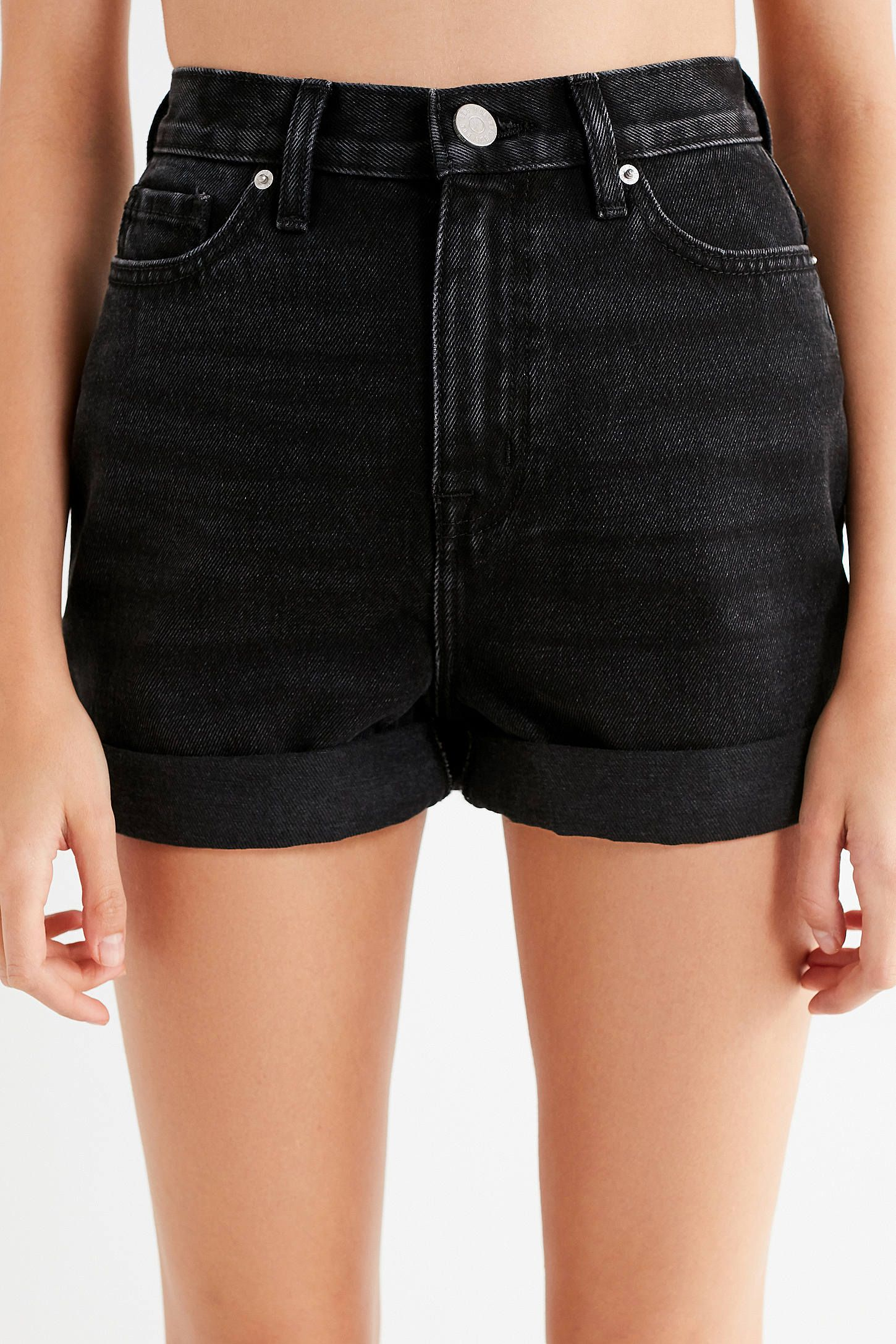 Shop BDG Mom High-Rise Denim Short – Black at Urban Outfitters today. We  carry all the latest styles e02748866f3