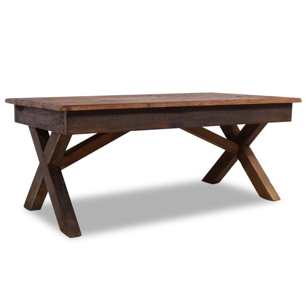 Table Basse Bois De Recuperation Massif 110 X 60 X 45 Cm Table Basse Bois Table Basse Bois Massif Table Basse