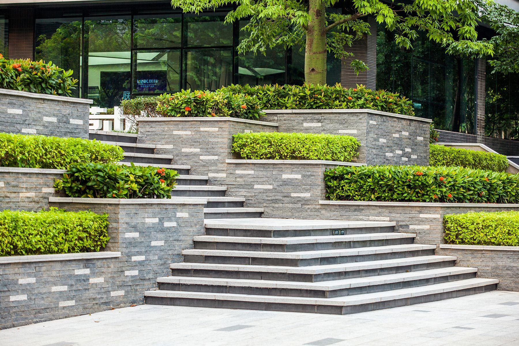 Link International Business Park Designed By Pleasanthouse In Dongguan China Hotel Landscape Landscaping Entrance Parking Design