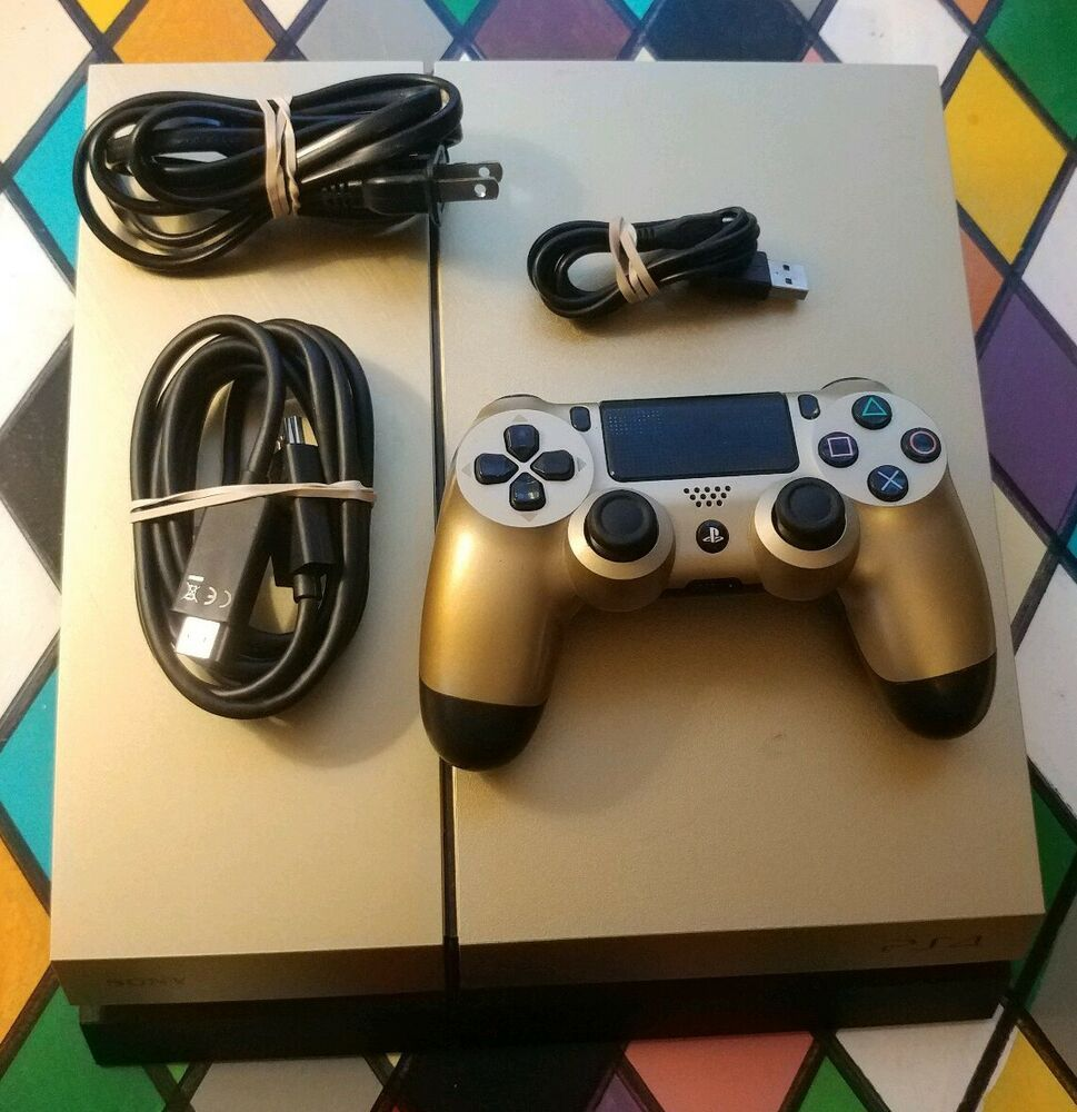 Playstation 4 System Gold Taco Bell Edition Rare Ps4 6500 Made