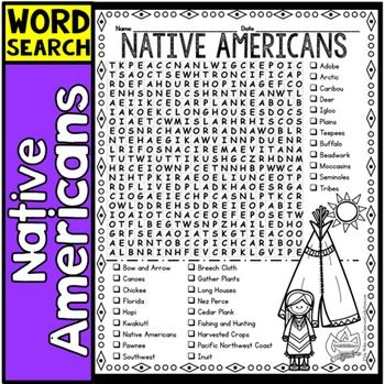 Word Search: Native Americans - Ducksters