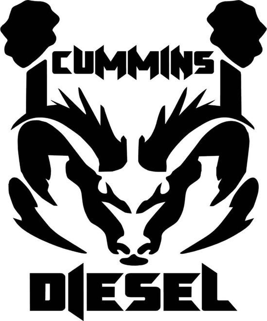 Cummins Diesel Ram Dodge Logo Vinyl Decal Sticker H2product
