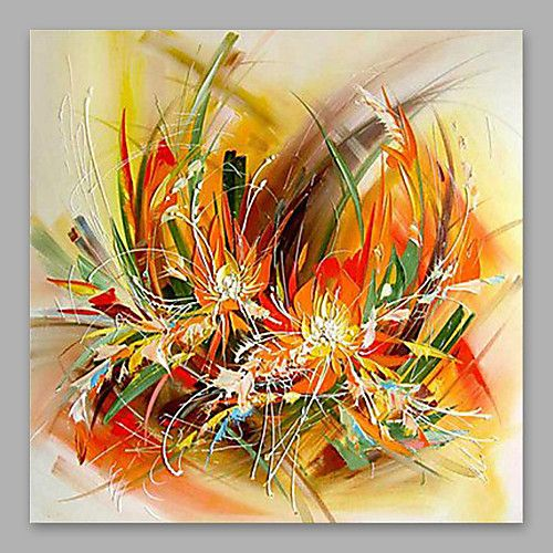 Peinture à l'huile Hang-peint Peint à la main - A fleurs / Botanique Moderne Toile … | Peinture ...