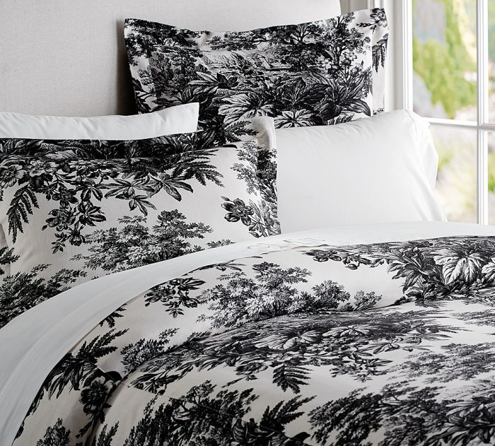 Matine Toile Duvet Cover Sham Black Winter Bedroom Black Duvet Cover Bedroom Inspirations