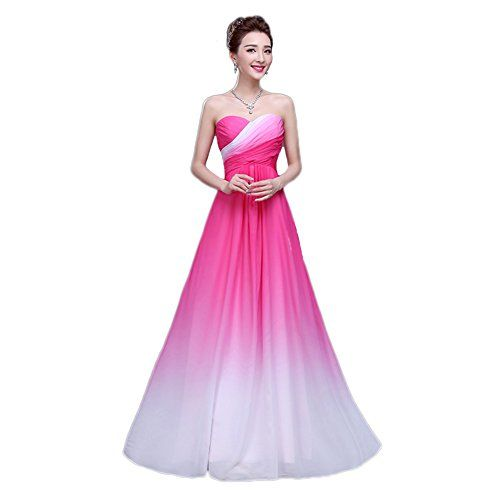 6655374aecf Amazon.com  Vimans Women s 2016 Sweetheart Pleated Ombre Chiffon Evening  Party Gowns  Clothing