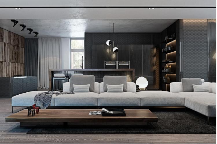 Laminat In Grau Und Wandverkleidung In Zwei Optiken   Holz Und Metall