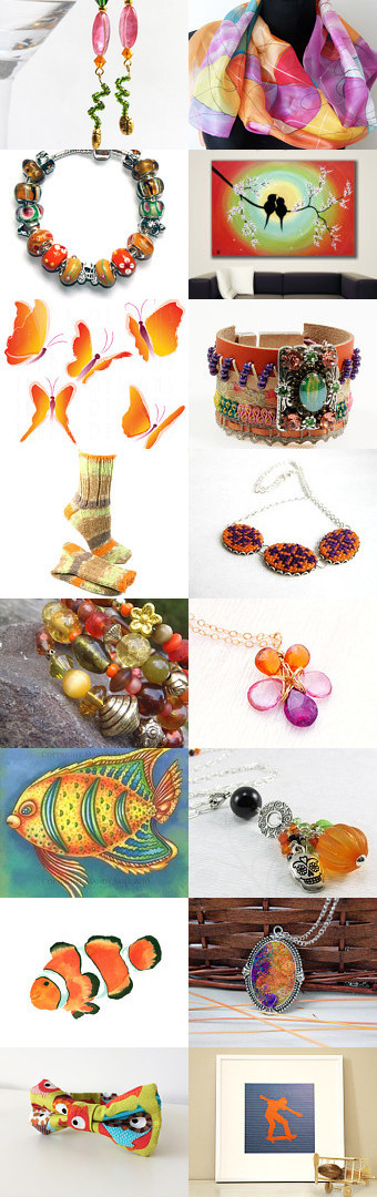 Orange comby's by Alice Loopeker on Etsy--Pinned+with+TreasuryPin.com