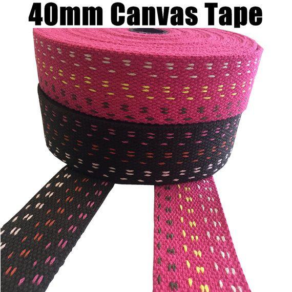 Straps 2 Patterns Webbing Craft 40mm CANVAS COTTON TAPE Belts Decoration