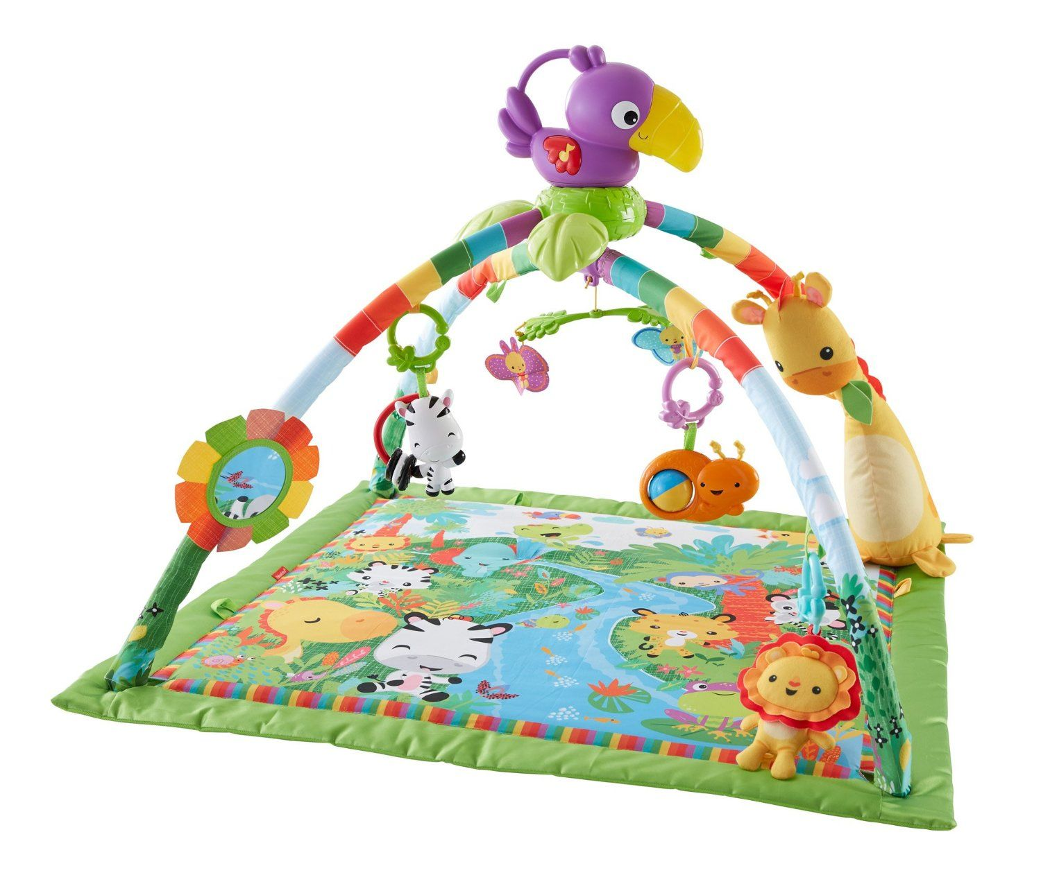Amazon Com Fisher Price Music And Lights Deluxe Gym Rainforest Baby Fisher Price Fisher Price Baby Toys Rainforest Music