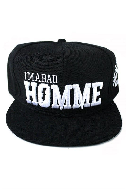 3cb544ff8ec + IM A BAD BOY Snapback Hat In Black
