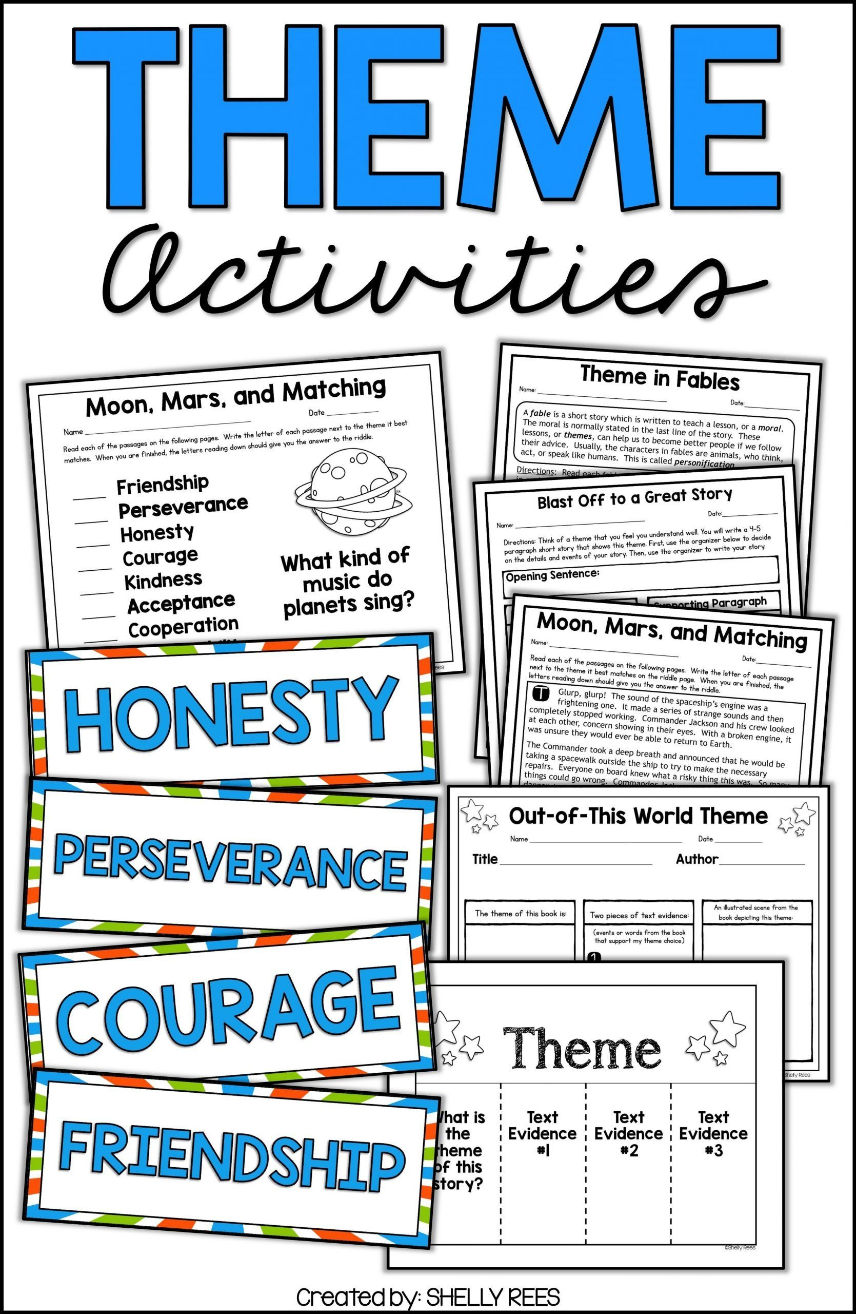 medium resolution of Theme Worksheet 4th Grade theme and Teaching theme   Teaching themes